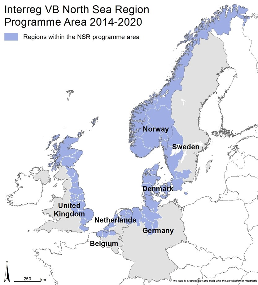 Map Of Germany North Sea.Programme Area Interreg Vb North Sea Region Programme