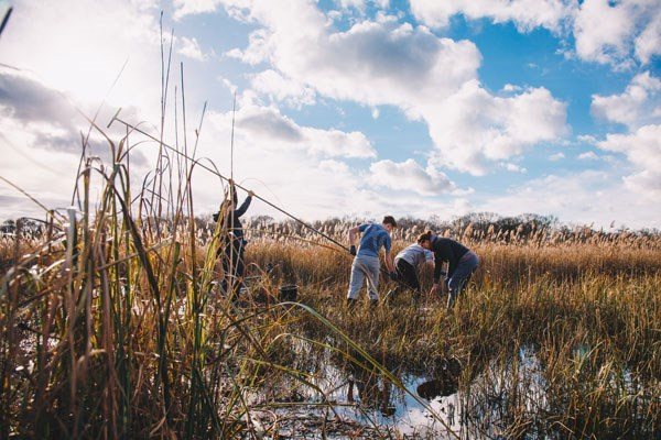 Volunteers helping in peatland research and conservation