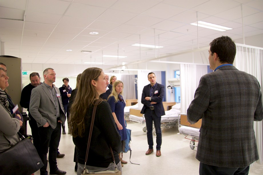 THE GRAND TOUR: Participants on the kick-off were given a tour of the University of Agder's Centre for eHealth and Care Technology.