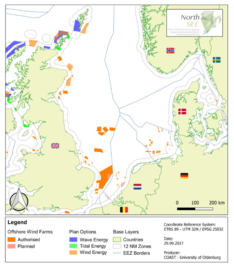 Map Of Germany North Sea.Energy Policies In The North Sea Interreg Vb North Sea Region Programme