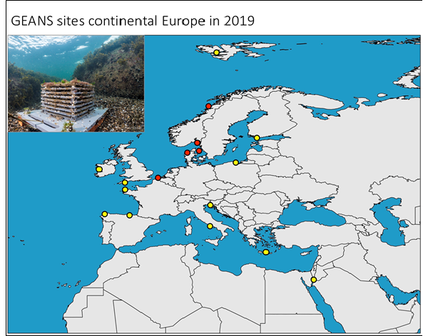 GEANS sites continental Europe in 2019