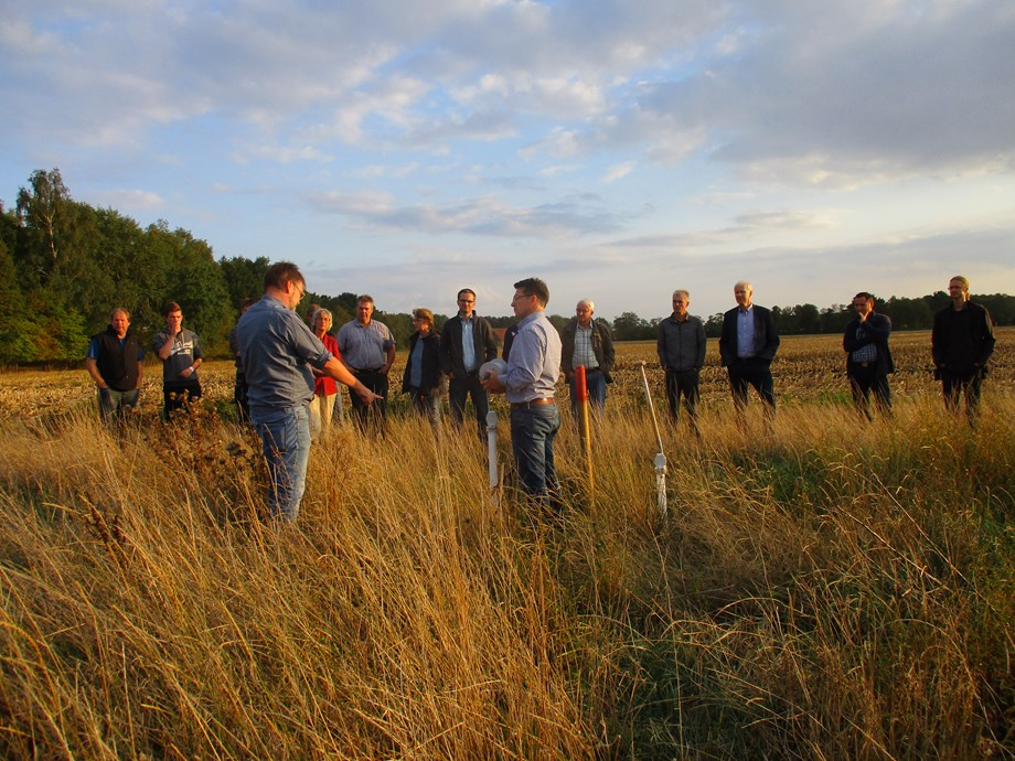 Farmers on the site this summer to discuss the future of farming in the area